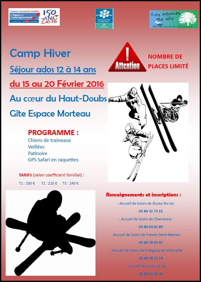 Camp hiver 12 ans