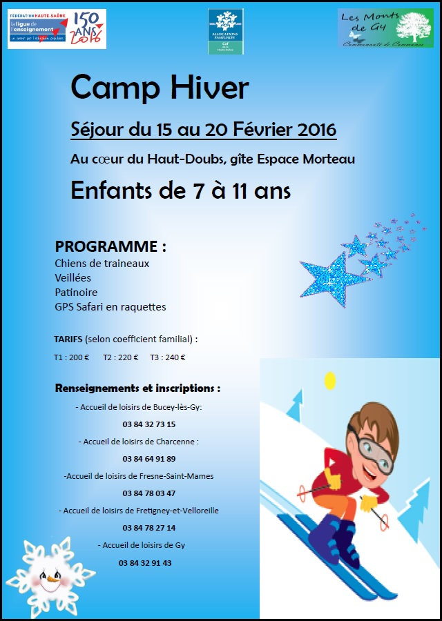Camp hiver 7 ans